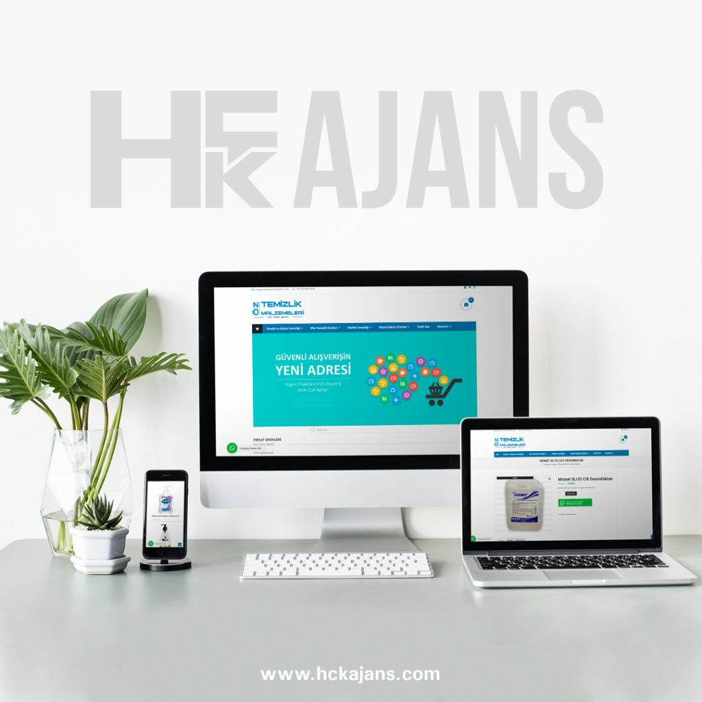 Öz Temizlik Malzemeleri E-ticaret Web Tasarım Hizmeti